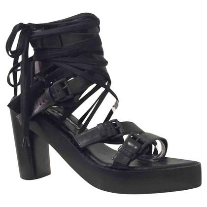 Ann Demeulemeester Black Sandals Ann Demeulemeester