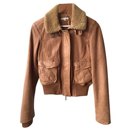 Vince Leren Flight Jacket