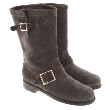 Jimmy Choo Boots in dark gray