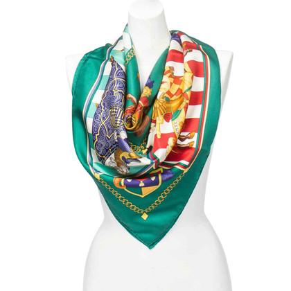 "Hermès Silk scarf ""Chocs en Plumes"""