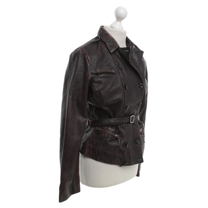 Golden Goose Leather jacket in Bordeaux