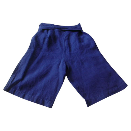 Ferre Blue shorts made of linen
