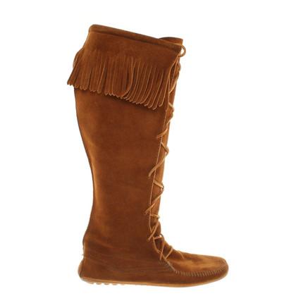 Minnetonka Stiefel aus Wildleder