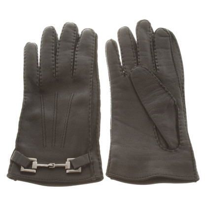 Gucci  Leather gloves in black