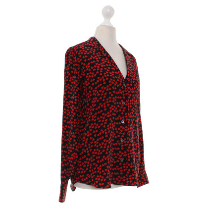 Equipment Blouse zwart / Red