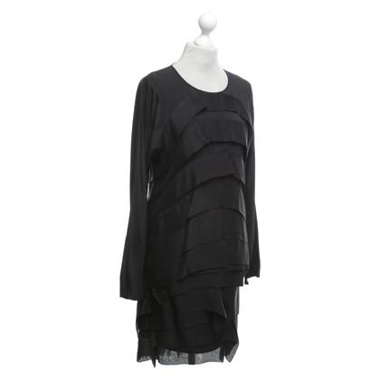 Hugo Boss top & skirt in black