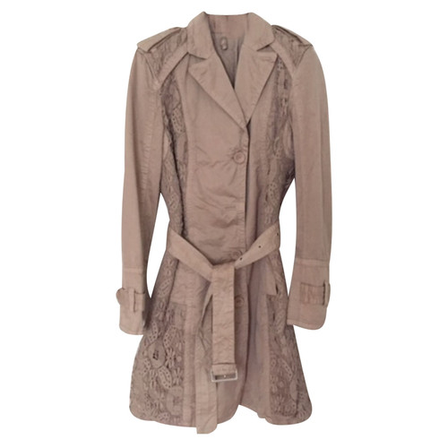 Marc Cain JackeMantel aus Baumwolle in Beige Second Hand