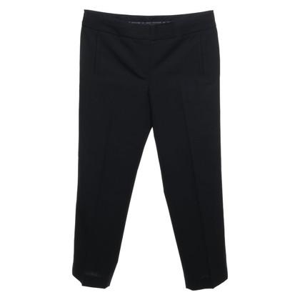 Armani Pantalon froissé en noir