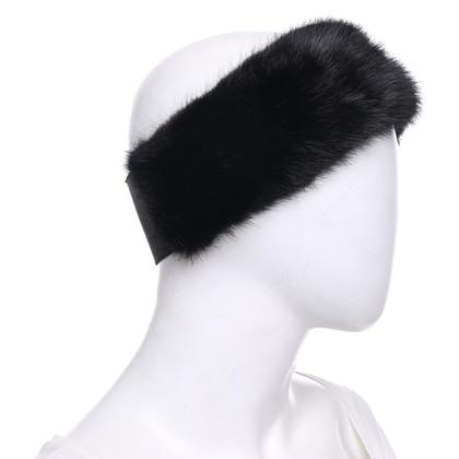 Max Mara Headband with fur trim