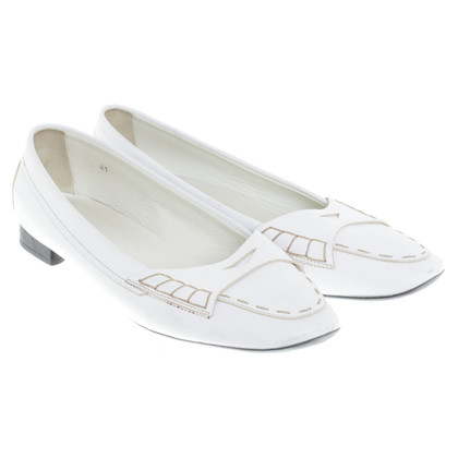Tod's White loafers