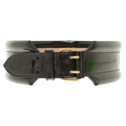 McQ Alexander McQueen Patent leather waist belt