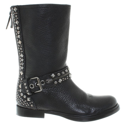 Miu Miu Ankle boots with a biker look
