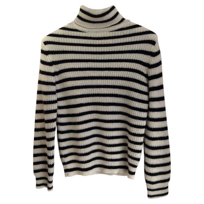 Iro Roll collar sweater with stripes