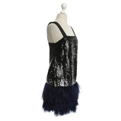 Blumarine Sequin jurk met struisvogelveren