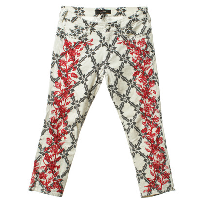 Isabel Marant Trousers with floral embroidery and print