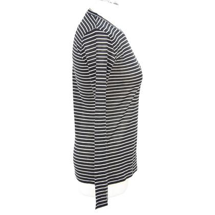 Max Mara Striped top in black and white