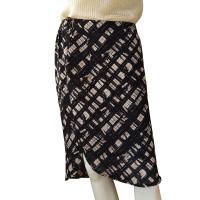 Bruuns Bazaar mini gonna in seta con motivo bianco e nero