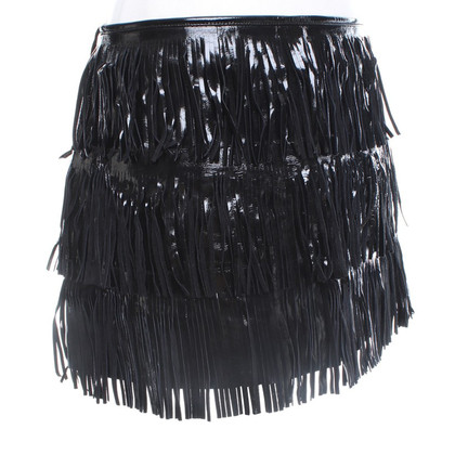 Manoush skirt made of lacquered leather