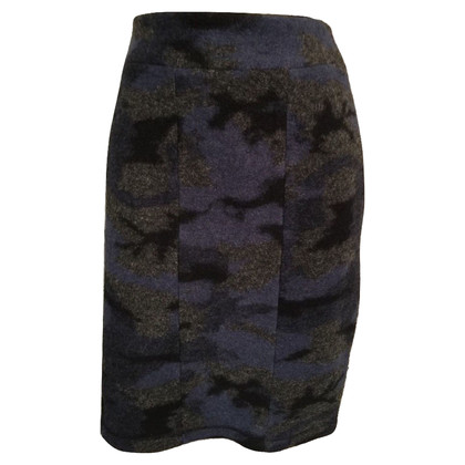 Clements Ribeiro Blue Wool Blend Mini Skirt