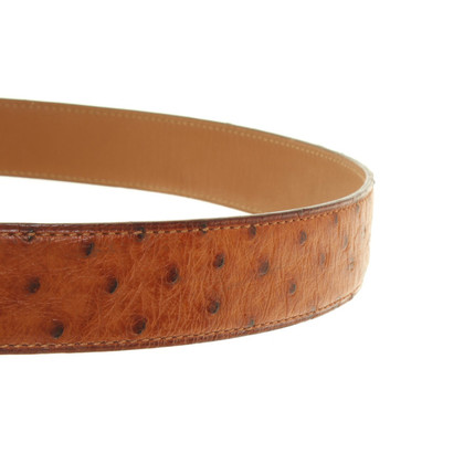 Hermès Belt from ostrich leather