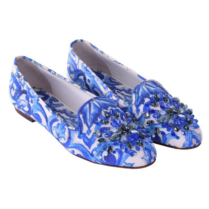 "Dolce & Gabbana Ballerinas ""Audrey"" with majolica print"