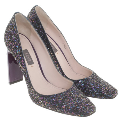 Bally Glinsterende pumps in paars