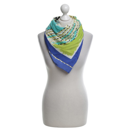 Loewe Sciarpa di seta in Multicolor