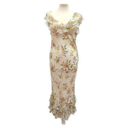 Christian Dior zijden jurk met volants