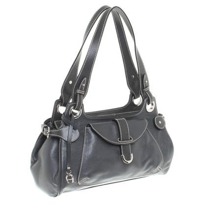Aigner Handbag with bright decorative stitching