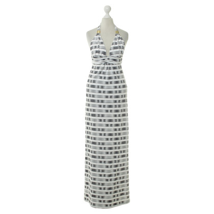 Heidi Klein Neckholder dress in black and white