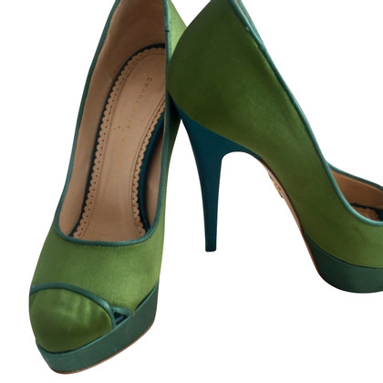 Charlotte Olympia Peeptoes in green