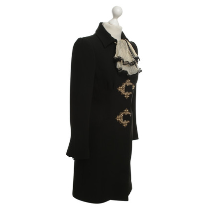 Alberta Ferretti Coat with embroidery
