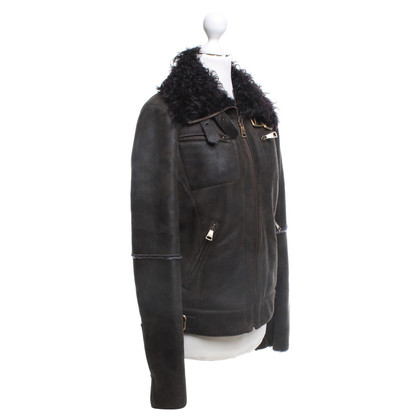 Dolce & Gabbana Leather jacket with lambskin