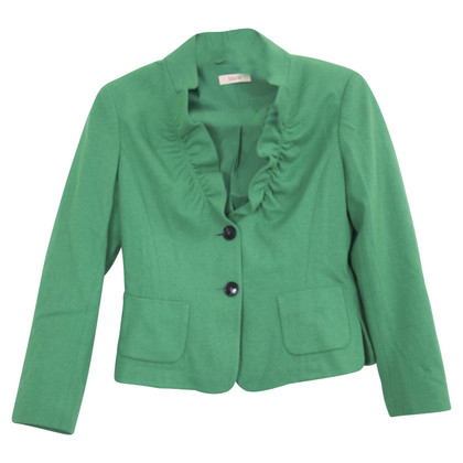 Laurèl Apple Green Wool Blazer