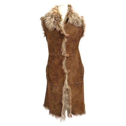 Furry Sleeveless Maxi vest