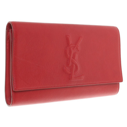 Saint Laurent Red Lederclutch