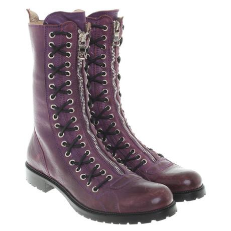 Dolce & Gabbana Stiefeletten in Violett Violett