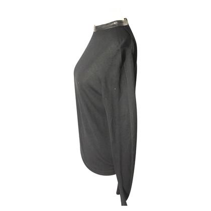 Cos Pullover mit Lederdetails