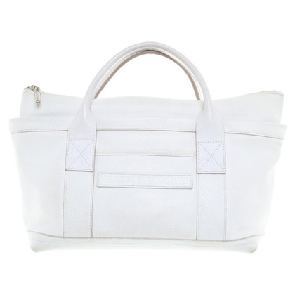 Burberry Leather Handbag in White