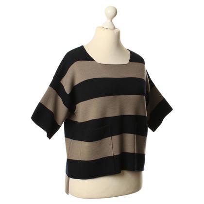 Max Mara Korte mouwen trui met streeppatroon
