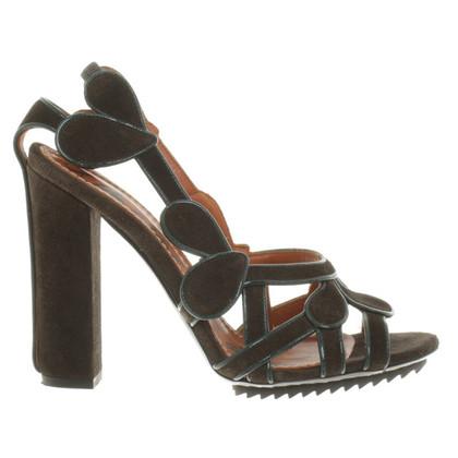 Lanvin sandali in camoscio