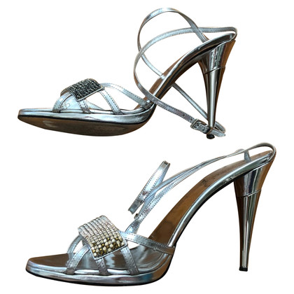 Sebastian Milano  Silver-colored sandals
