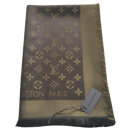 Louis Vuitton Service monogramme Tissu en or / Brown