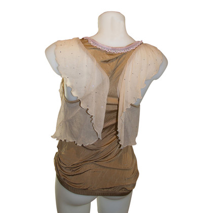 John Galliano Top soie/viscose