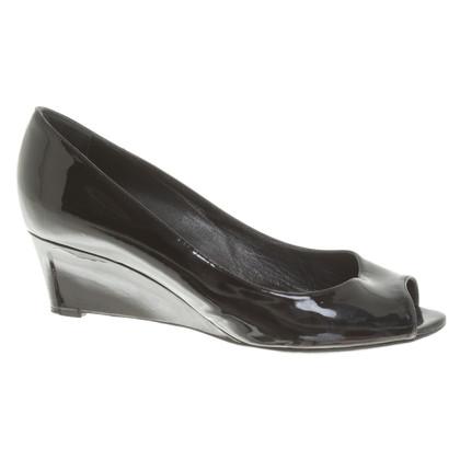 Sergio Rossi Patent leather peep-toes