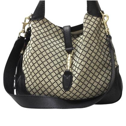 Gucci Nieuwe Jackie Diamant en leder stof