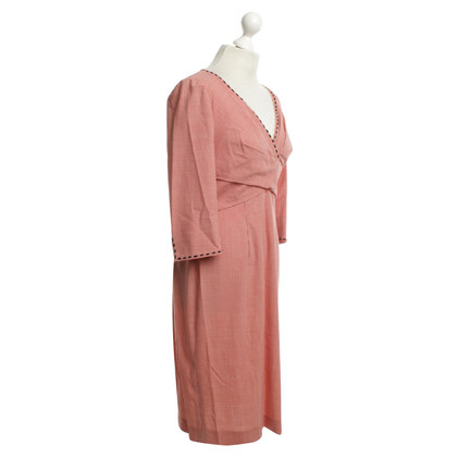 Rena Lange Controleer jurk in rood / wit