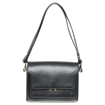 "Marni ""Trunk bag"" black leather"