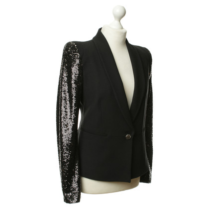 Rich & Royal Blazer in black with sequined sleeves