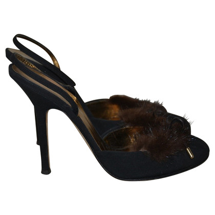 Dsquared2 Slingback pumps with mink trim